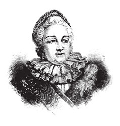 Catherine the great vintage vector