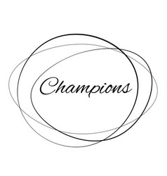 Champions stamp on white background vector