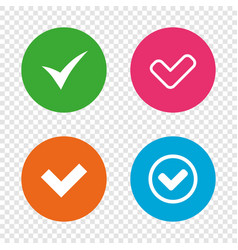 check signs checkbox confirm icons vector image