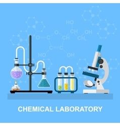 Chemical glassware laboratory vector image