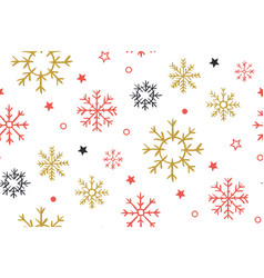 christmas background with snowflakes abstract vector image