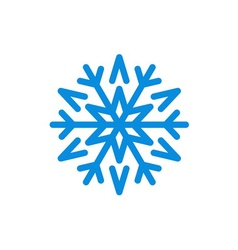 Christmas snowflake isolated vector