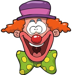 clown head vector image