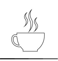 coffee cup icon design vector image