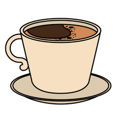 coffee cup isolated icon vector image