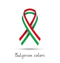 Colored ribbon with the bulgarian tricolor vector