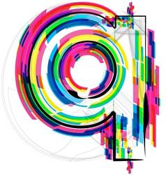 Colorful Font - Letter q vector
