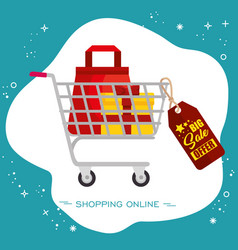 colorful shopping design vector image