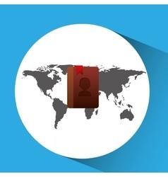 Concept globe contact social media vector