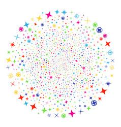 confetti stars festival spheric cluster vector image