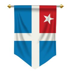 Cretan state pennant vector