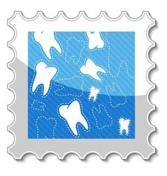 Dental stamp vector