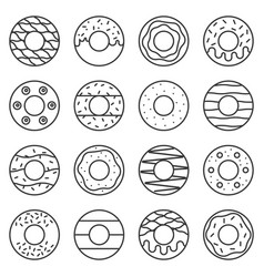 Doughnut outline icon in various style vector