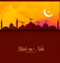 Eid festival milad un nabi greeting background vector