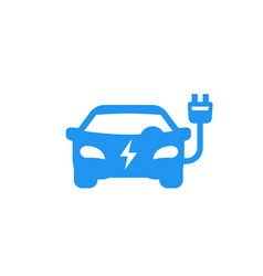 electric car icon on white vector image