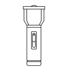 Flashlight icon outline style vector image