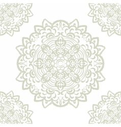 Floral round element in Eastern style vector