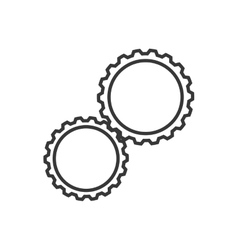 Gear machine part cog industry icon vector