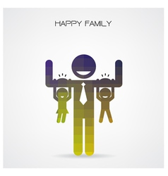 Happy family having fun vector