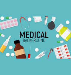 Health medical background with place for tex vector