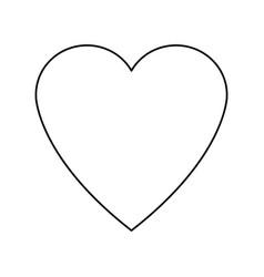 heart love romance feeeling symbol vector image