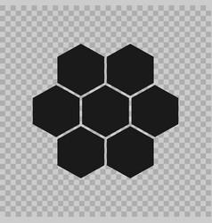 Hexogen isometric logo concept honeycomb vector