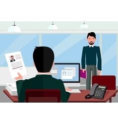 Hiring recruiting interview vector