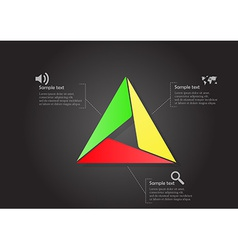 Infographic with main triangle consists smaller vector