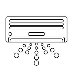 Isolated air conditioner machine design vector