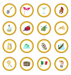 italy cartoon icon circle vector image