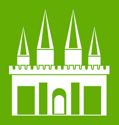 kingdom palace icon green vector image