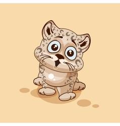 Leopard cub surprised vector
