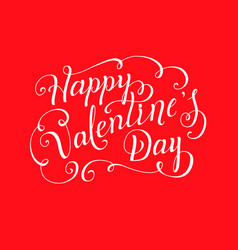lettering design for valentines day vector image