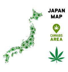 marijuana collage japan map vector image