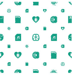 memory icons pattern seamless white background vector image