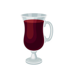 Mulled wine in glass with handle delicious vector