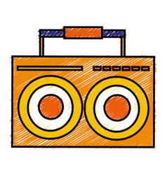 music player vintage style vector image