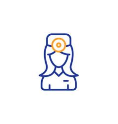 Oculist doctor line icon health eye sign vector