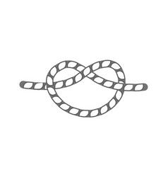 overhand rope knot isolated icon vector image