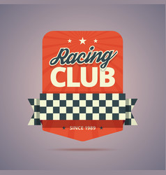 Racing club badge vector