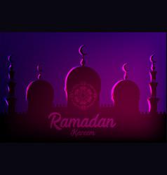 ramadan kareem islamic greeting card vector image