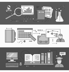 research planning and learning vector image