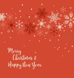 retro simple christmas card vector image