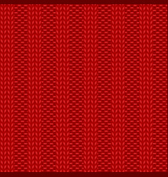 Rib knit red pattern vector