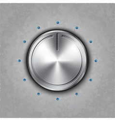 Round metal power button vector