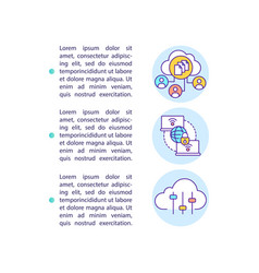 Saas advantages concept icon with text vector