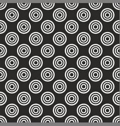 seamless pattern with white polka dots on black vector image