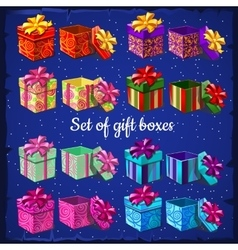 Set of boxes for gifts vector image