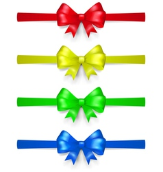 Set of multicolored bows vector
