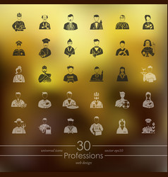 Set of professions icons vector
